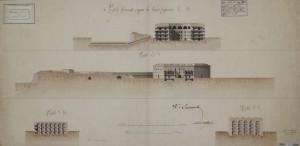 Sezione dei nuovi quartieri progettati per la Cittadella, Istituto Storico e di Cultura dell'Arma del Genio di Roma FT037/B2468.