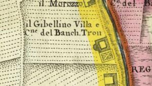 Cascina Gibellino. Amedeo Grossi, Carta Corografica dimostrativa del territorio della Città di Torino, 1791, © Archivio Storico della Città di Torino.