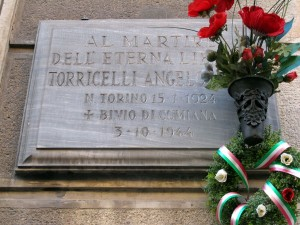 Lapide dedicata a Torricelli Angelo (1924 - 1944)