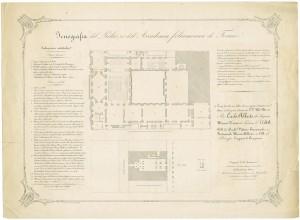 Icnografia del Palazzo dell'Accademia Filarmonica di Torino. Litografia Pautas, Torino, 1841. © Archivio Storico della Città di Torino