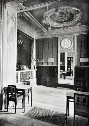 Baratti & Milano, ampliamento 1911, interno (riproduzione da libro: A. Job, M. L. Laureati, C. Ronchetta, 1984, p. 57, n. 2)