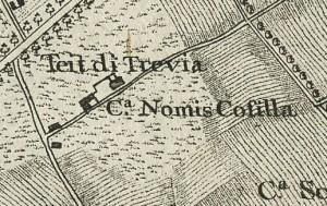 Cascina Cossilla. Francesco De Caroly, Carta topografica dimostrativa, 1785, ©Archivio di Stato di Torino