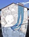 """""""Habitat"""" di Millo, muro dipinto in corso Palermo 98. Fotografia di Millo, 2014"""