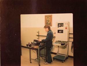 Uno studente della negli anni Ottanta.©Archivio Casa di Carità Arti e Mestieri.