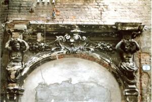 Casa Siccardi, portale. Fotografia ottobre 2005 © Biblioteche civiche torinesi