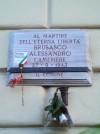 Lapide in memoria di Alessandro Brusasco in via Nizza 5. Fotografia di Paola Boccalatte, 2014. © MuseoTorino