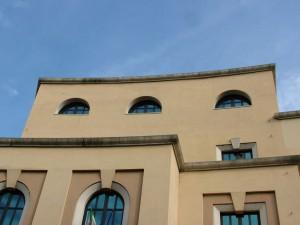 Scuola universitaria interfacoltà di Scienze Motorie, piazza Bernini, particolare. Fotografia di Paola Boccalatte, 2013. © MuseoTorino