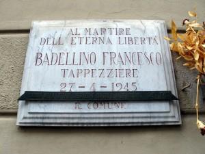 Lapide dedicata a Francesco Badellino (1928 - 1945)