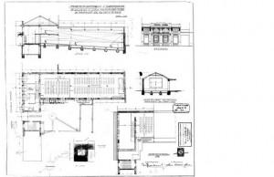 Progetto di edificazione della sala cinematografica.