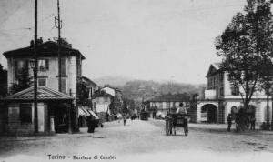 Casa del dazio barriera di Casale, cartolina, anni Dieci del Novecento. Archivio Storico GTT