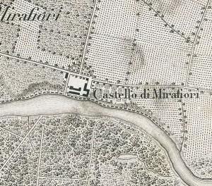 Cascina Mirafiori. Vittorio Brambilla, Contorni di Torino, 1877. © Archivio Storico della Città di Torino