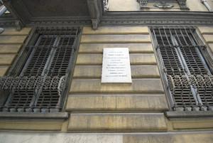 Targa in memoria di Piero Gobetti. Fotografia di Bruna Biamino, 2010. © MuseoTorino