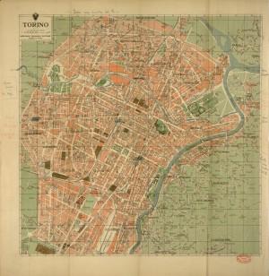 Pianta di Torino, 1950 circa, ed. Vallardi. Biblioteca civica centrale, Cartografico  3/4.32.01 © Biblioteche civiche torinesi