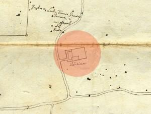 Cascina Il Tarino. Planimetria dei territori tra Torino e Beinasco, 1740-1742. © Archivio Storico della Città di Torino