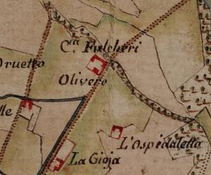 Cascina del Rivore. Carta delle Regie Cacce, 1816, ©Archivio di Stato di Torino.