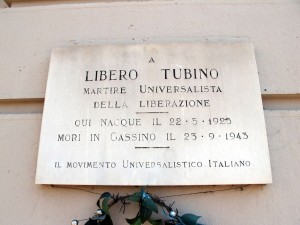 Lapide dedicata a Tubino Libero (1925 - 1943)