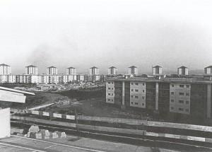Torri del quartiere Falchera Nuova, Amedeo Albertini, Nello Renacco, Sergio Nicola. Francesco Dolza, Guido Barba Navaretti; 1971-1973 (da GIBELLO, SUDANO, 2002, fotografia R. Moncalvo)