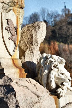 Odoardo Tabacchi, Monumento a Giuseppe Garibaldi (particolare del leone), 1887. Fotografia di Mattia Boero, 2010. © MuseoTorino.