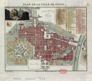 Pianta topografica della città di Torino ( 1830 circa )