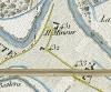 Cascina Perrone.  Antonio Rabbini , Topografia della Città e Territorio di Torino, 1840. © Archivio Storico della Città di Torino