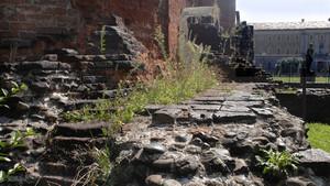 I resti delle mura romane nei pressi della Porta Palatina. Fotografia di Plinio Martelli, 2010. © MuseoTorino.