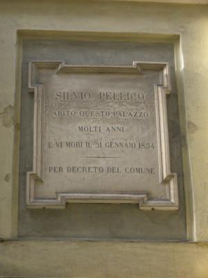 Lapide dedicata a Silvio Pellico. Fotografia di Elena Francisetti, 2010. © MuseoTorino