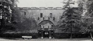 Un'immagine del Mastio subito dopo i restauri (Politecnico di Torino, Fondo Brayda).