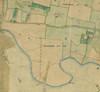 Mappa catastale degli anni Trenta dell'Ottocento del territorio che assumerà il nome di borgata Ceronda, particolare.©Archivio Storico della Città di Torino