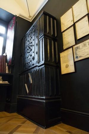 Musy Torino, particolare dell'antica cassaforte, 2017 © Archivio Storico della Città di Torino
