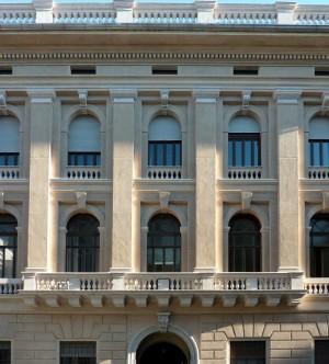 Fronte posteriore del palazzo dell'Intendenza di Finanza su via Guicciardini. Fotografia di Caterina Franchini per MuseoTorino