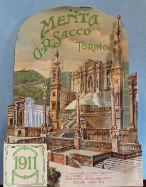 Cartoncino pubblicitario della Menta Sacco, 1911. Fotografia di Chiara De Santis © Biblioteche civiche torinesi