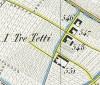 Cascina Tre Tetti Nigra.  Topografia della Città e Territorio di Torino, 1840, © Archivio Storico della Città di Torino