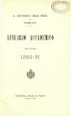 «Annuario accademico», A. XV, a.a. 1890-1891, Torino, copertina