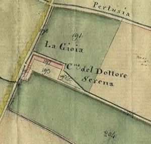 Cascina Gioia. Catasto Gatti, 1820-1830. © Archivio Storico della Città di Torino