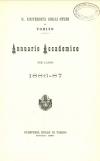 «Annuario accademico», A. X, a.a. 1886-1887, Torino, copertina