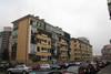 Il fronte delle case Fiat lungo via Viterbo. Fotografia di Andrea Coccorese, 2010.