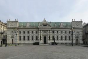 Scuderie del Principe di Carignano oggi sede della Biblioteca Nazionale Universitaria