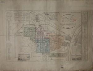 Pianta topografica della città di Torino (1828)