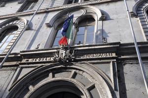 La Scuola elementare statale Carlo Boncompagni (iscrizione). Fotografia di Mauro Raffini, 2010. © MuseoTorino.
