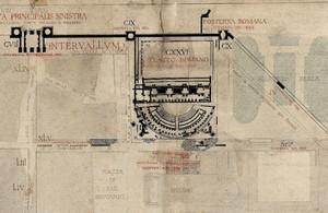 Il teatro romano nella pianta di Alfredo D'Andrade, © Soprintendenza per i Beni Archeologici del Piemonte e del Museo Antichità Egizie