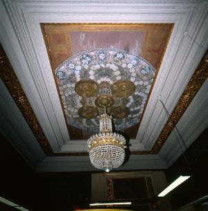 Maschio, ex confetteria Romana Succ. Bass, particolare del soffitto, 1998 © Regione Piemonte