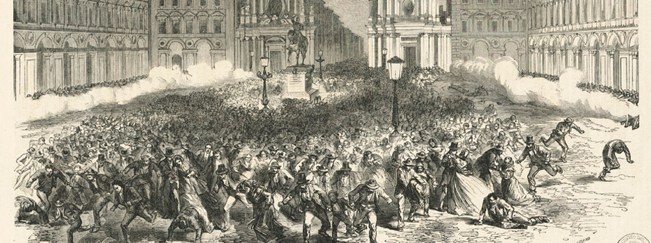 Lapide dedicata alle vittime dei moti del 1864