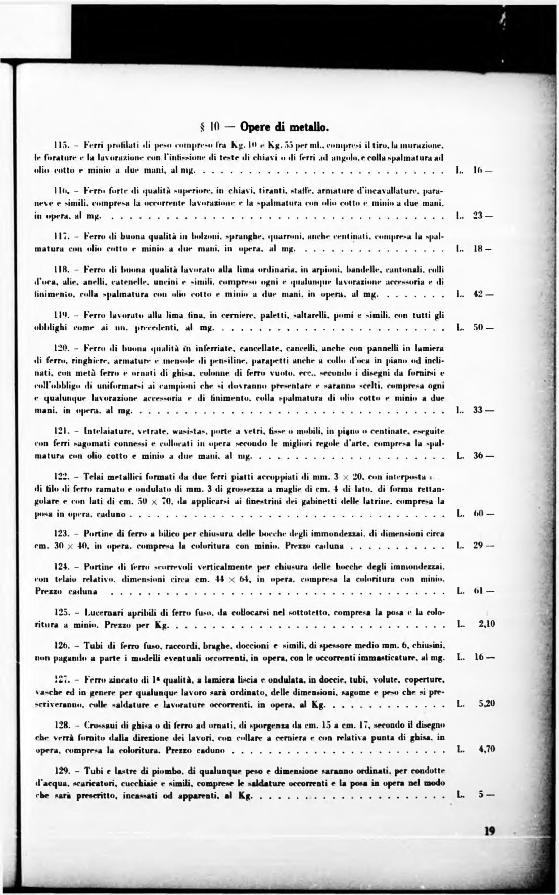 Costo Profilati Ferro Al Kg torino. rivista mensile municipale 1936