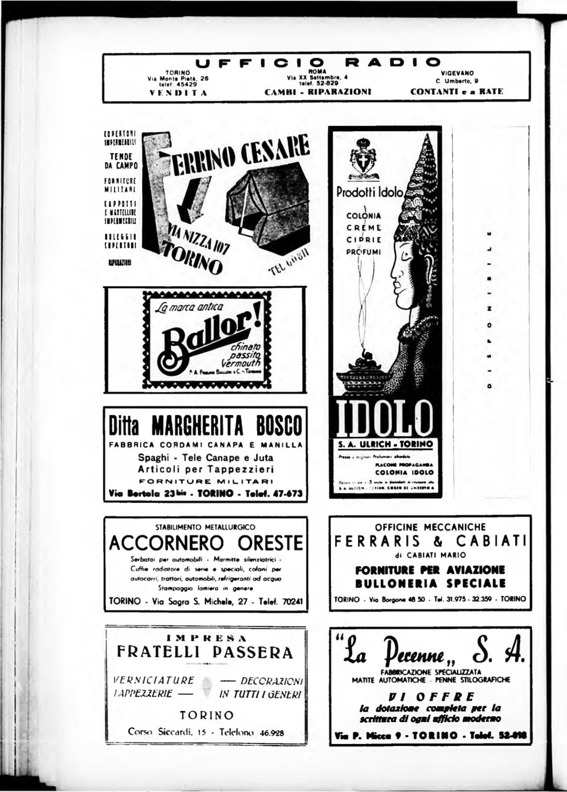 Forniture Per Tappezzieri Roma torino. rivista mensile municipale 1938
